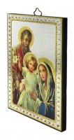 Immagine di 'Tavola Sacra Famiglia stampa su legno - 10 x 14 cm'