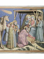 """Arazzo sacro """"Adorazione dei Magi"""" - dimensioni 94x132 cm - Giotto"""