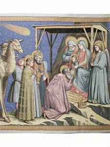 """Copertina di 'Arazzo sacro """"Adorazione dei Magi"""" - dimensioni 94x132 cm'"""