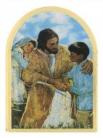 """Icona a cupola in legno massello e lamina oro """"Confessione"""" - dimensioni 12x8,5 cm"""