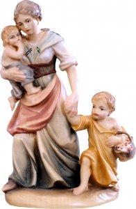 Copertina di 'Pastorella con bambini D.K. - Demetz - Deur - Statua in legno dipinta a mano. Altezza pari a 10 cm.'