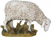 Pecora testa bassa in resina dipinta cm 16 - Linea Martino Landi