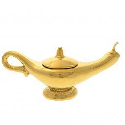 Copertina di 'Lampada di Aladino in ottone lucido dorato - lunghezza 29 cm'