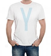 T-shirt Yeshua azzurra con scritte - taglia S - uomo