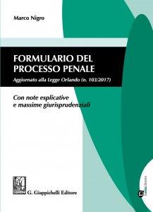 Copertina di 'Formulario del processo penale'