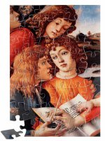 """Puzzle """"Madonna del Magnificat"""" - Particolare del libro (48 pezzi) - Sandro Botticelli"""