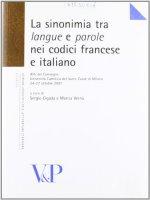 """Sinonimia tra """"langue"""" e """"parole"""" nei codici francese e italiano. (La)"""