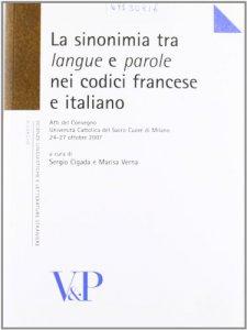 """Copertina di 'Sinonimia tra """"langue"""" e """"parole"""" nei codici francese e italiano. (La)'"""