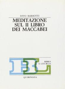 Copertina di 'Meditazione sul secondo Libro dei Maccabei'