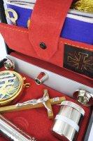 Immagine di 'Astuccio ( kit celebrazione messa) lusso con 11 oggetti'