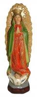 Statua della Madonna di Guadalupe da 12 cm in confezione regalo con segnalibro in IT/EN/ES/FR