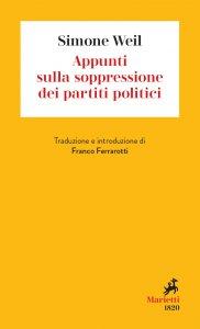 Copertina di 'Appunti sulla soppressione dei partiti politici'