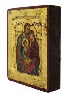 Immagine di 'Icona Sacra Famiglia, produzione greca su legno - 8 x 6,5 cm'