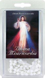 """Copertina di 'Libretto rosario """"Divina Misericordia"""" con scatoletta e rosario'"""