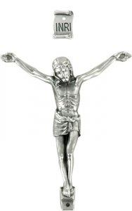 Copertina di 'Corpo di cristo in metallo argentato cm 7'