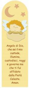 Copertina di 'Quadro Angelo di Dio in legno colorato beige - 43 x 13 cm'