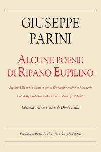 Copertina di 'Alcune poesie di Ripano Eupilino. Edizione critica'