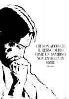 """Immagine di 'T-shirt """"Chi non accoglie il regno di Dio..."""" (Mc 10,15) - Taglia S - UOMO'"""