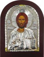 """Icona """"Gesù Maestro"""" con riza resinata - cm 12x8"""