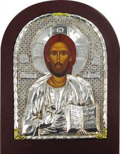 """Copertina di 'Icona """"Gesù Maestro"""" con riza resinata - cm 12x8'"""