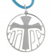 Immagine di 'Ciondolo in argento 925 con simbolo Tau'