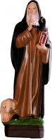 Statua Sant'Antonio Abate in materiale infrangibile dipinta a mano - cm 30