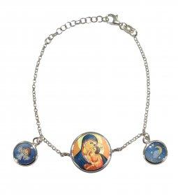 Copertina di 'Braccialetto in argento con tre medaglie'