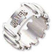 Anello rosario argento smaltato bianco - mm 31