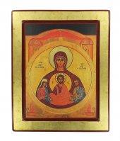 Icona degli sposi - Nostra Signora dell'Alleanza, produzione greca in legno - 32 x 26 cm