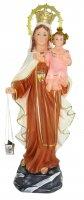 Statua Madonna Vergine del Carmine in gesso - 36 cm