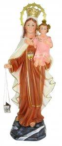 Copertina di 'Statua Madonna Vergine del Carmine in gesso - 36 cm'