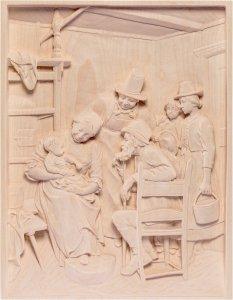 Copertina di 'Visita dei nonni - Demetz - Deur - Statua in legno dipinta a mano. Altezza pari a 30 cm.'