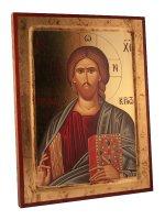 """Icona stampata in legno """"Cristo Pantocratore"""""""