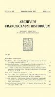 Un volgarizzamento della bolla di Eugenio IV Ordinis tui a fra Giacomo Primadizzi in un codice bolognese  (159-182) - Juri Leoni OFM