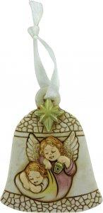Copertina di 'Campana in resina con angelo custode - 7,2 cm'