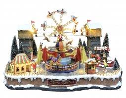 Copertina di 'Villaggio natalizio con luna park, movimento, luci, musica (70 x 46 x 50 cm)'