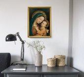 """Immagine di 'Quadro """"Madonna del Buon Consiglio"""" con lamina oro e cornice dorata - dimensioni 44x34 cm'"""