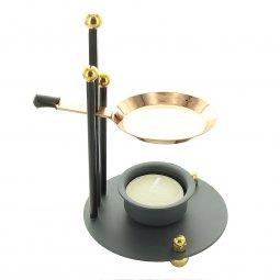 Copertina di 'Brucia incenso regolabile in metallo nero e rame - altezza 16 cm'