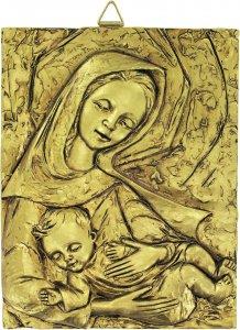 Copertina di 'Quadro Madonna con Bambino in resina - Bassorilievo - 8 x 10,5 cm'