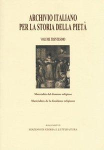 Copertina di 'Archivio italiano per la storia della pietà'