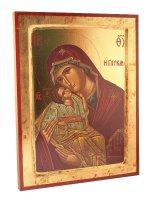 """Icona in legno """"Madonna col bambino"""""""