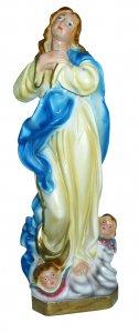 Copertina di 'Statua Madonna del Murillo Vergine Assunta in gesso madreperlato dipinta a mano - 20 cm'
