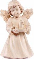 Statuina dell'angioletto con candela, linea da 10 cm, in legno naturale, collezione Angeli Sissi - Demetz Deur