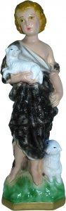 Copertina di 'Statua San Giovanni Battista in gesso madreperlato dipinta a mano - 30 cm'