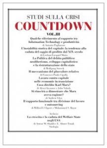 Copertina di 'Countdown. Studi sulla crisi'