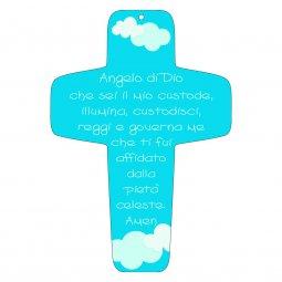 "Copertina di 'Croce azzurra ""Angelo di Dio"" - altezza 13 cm'"