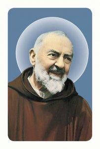 """Copertina di 'Card pvc con preghiera """"Padre Pio""""'"""