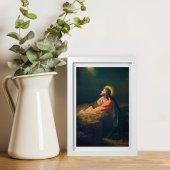"""Immagine di 'Quadretto """"Gesù nell'orto"""" con passe-partout e cornice minimal - dimensioni 15x10 cm'"""