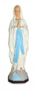 Copertina di 'Statua da esterno della Madonna di Lourdes in materiale infrangibile, dipinta a mano, da circa 16 cm'