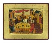 Icona Nozze di Cana, produzione greca su legno - 21 x 16 cm